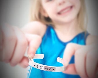 Personalized Gymnast Bracelet - gymnastics girl sports athlete cuff bracelet