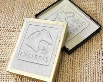 Horse Ex Libris book plates. Antioch Bookplate Company.