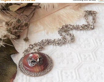 ChristmasInJulySALE..... Sale......One of a Kind Silver and Gemstone Adjustable Necklace