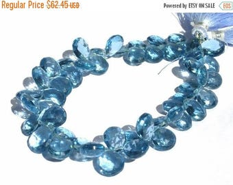 50% Off Sale 1/2 Strand - AAA London Blue Quartz Faceted Pear Briolettes Size 8x7 - 12x 10mm approx