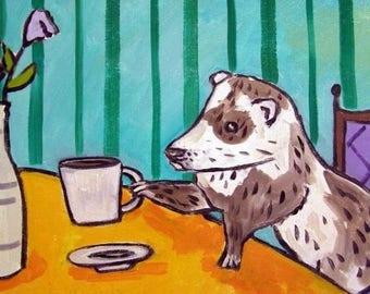 20% off Ferret at the Cafe Art Tile Coaster