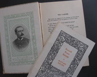 Vintage Rudyard Kipling, Barrack Room Ballads and Vampire