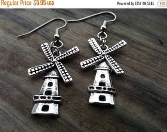 25% off Summer Sale Windmill lighthouse earrings Sensitive Ears