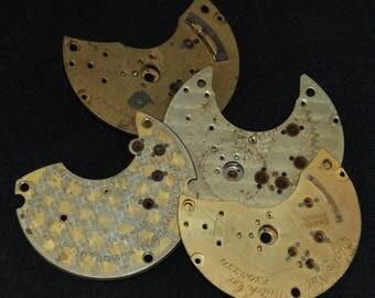 Destash Steampunk Pocket  Watch Clock Parts Plates Movements  FP 91