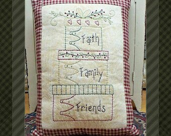 Stacked Boxes-Primitive Stitchery E-PATTERN-INSTANT DOWNLOAD
