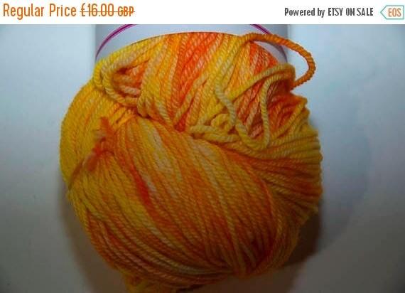 Christmas In July Hand-Dyed Yarn in Sunrise Sock Yarn Merino/Cashmere/Nylon Lush Base