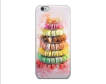 French Macaroons Phone Case iPhone 6s Case iPhone 6 Plus Case iPhone 7 Case iPhone 6s Plus Case Cover iPhone 6 iPhone 5s Case Watercolor Art