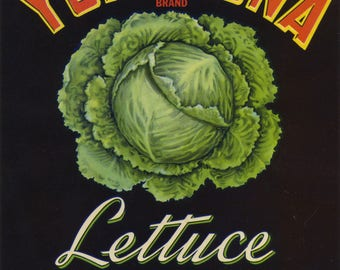 Yumazona Lettuce Crate Label Yuma Arizona
