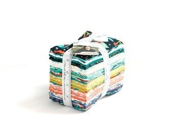 Midnight Garden Fabric // Fat 8th Bundle // 1canoe2 // cotton quilting