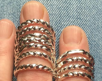 Twisted Sterling Silver Rings
