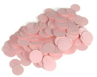 BABY PINK CONFETTI  Funfetti Paper Party  Confetti  Dots in  Baby Pink Quantity 300 Pieces