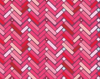 Happy Chevron Pink Color ~ Princess Collection for Adornit Fabrics
