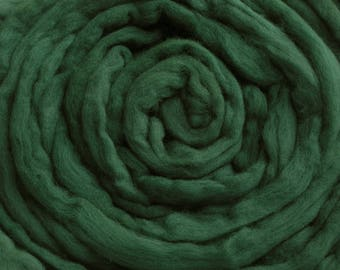 200g Acid Dyed Falkland Wool Top -  Spruce