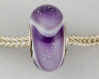 Unique Dichroic Dillo - Artisan Charm Bracelet Bead - (MAR-21)