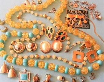 Vintage Jewelry Lot Steampunk Jewelry DIY Jewelry Vintage Necklaces Bracelets Charms Earrings