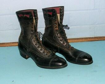 Antique Vintage Shoes Antique Vintage Boots Antique Vintage Ladies Childs Shoes Halloween Witch Shoes