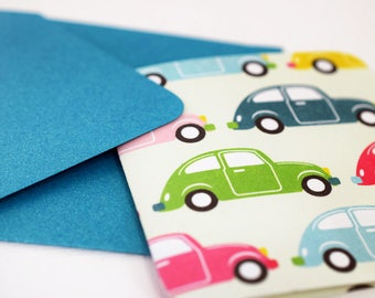 Blank Cards /  Mini Cards / Thank You Cards / Favor Cards / Birthday Cards / Vintage Car Cards / Cards with Envelopes / mad4plaid