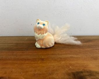 vintage 90s My Little Bunny Li'l Litters Precious Persian My Little Pony Flocked Cat Kitty Toy Hasbro