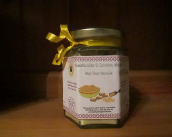 Chestnuts & Brown Sugar Scented Soy Wax Candle 300g