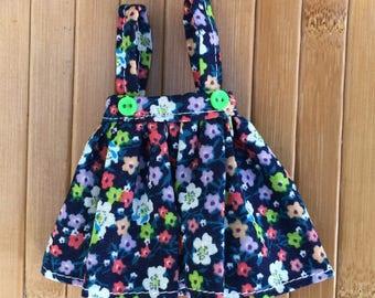 Suspender skirt for Neo Blythe - Royal Blue Floral