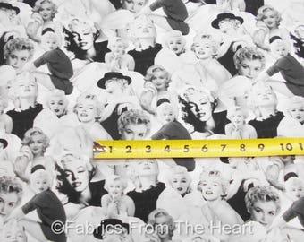 Marilyn Monroe Platinum Sexy Pin Up Poses BY YARDS Robert Kaufman Cotton Fabric