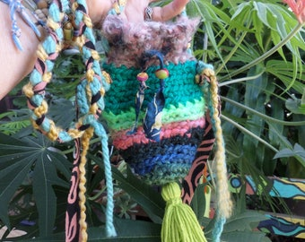 Boho pouch, Festival Bag, Hippie pouch, E15, hippie festival, rune pouch, crystal pouch, coin pouch, coin purse, boho purse, festival purse