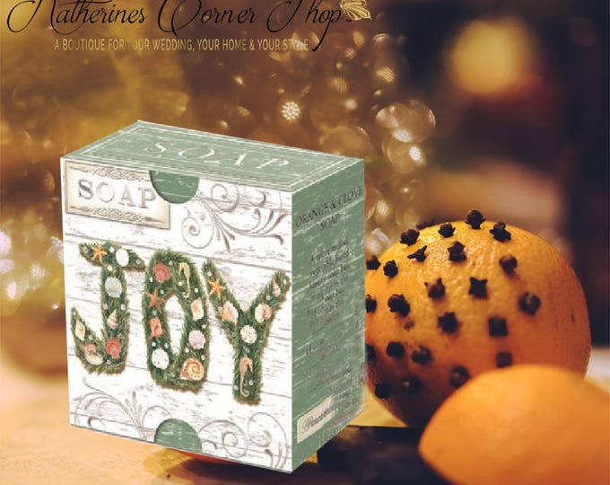 Featured listing image: Christmas Joy Orange Clove Soap