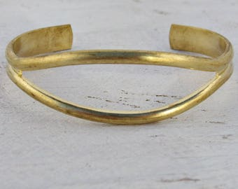 Metal Bracelet Blanks Brass Adjustable Cuff with Eye opening 1508 - 1 pieces