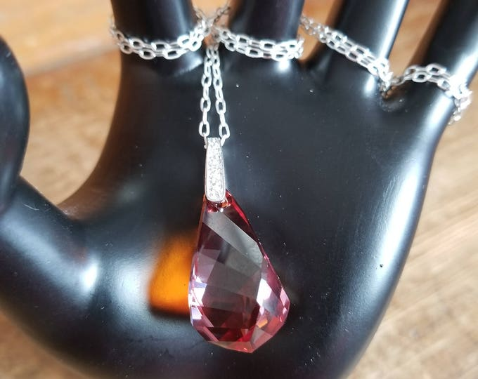 Swarovski Drop Crystal Necklace