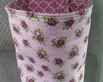 Trash Bin, Car Trash Bag, Cute Car Accessories, Headrest Bag, Trash Container, Mauve Flower Bouquets