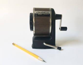 Pencil Sharpener desk sharpener Vacuhold Apsco Pencil sharpener Vintage pencil sharpener
