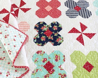 PATTERN WILDFLOWERS Quilt pattern    We combine shipping