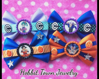 Dragon Ball Z Goku Vegeta Bulma Trunks Anime Hair Bows