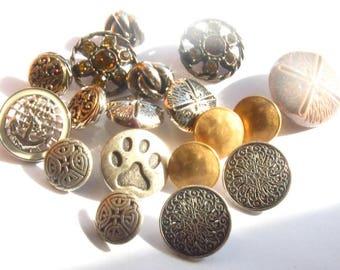 Bronze Button Destash