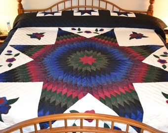 Amish Improved Lone Star King/Queen quilt
