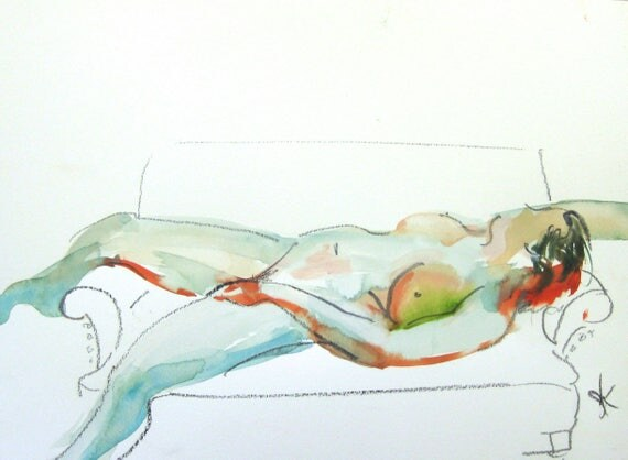Nude painting- #1482 -original  by Gretchen Kelly