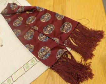 Vintage fringed scarf