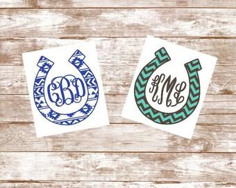Yeti Cup Decal, Yeti Tumbler Decal, Yeti Decal, Yeti Decal for Women, Horseshoe Monogram, Yeti Sticker, Yeti Monogram