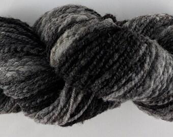 Soft Shetland Wool Handspun Yarn - Grey Gradient - 125 yards Farm Raised
