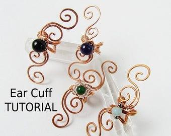 Sale, 15% Off - Swirly Ear Cuff - Wire Wrapped Jewelry Making TUTORIAL
