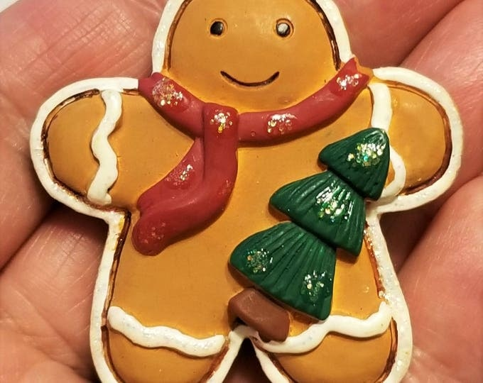 Featured listing image: CH-114, A Fat, Little Christmas Gingerbread Man, One of the Cutest I've Come Across