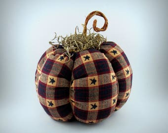 Primitive Fabric pumpkin home decor, Country Home decor, Americana