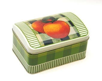 Vintage Peach Recipe Tin