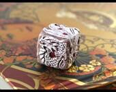4 bone dragondice, 1 custom painted dragon die.