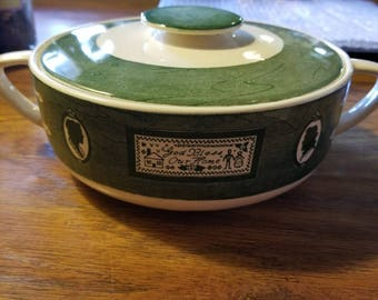 Colonial Homestead Royal China round covered vegetable dish