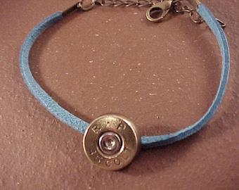 Bullet Bracelet -  45 Colt Brass Shell with Leather Band