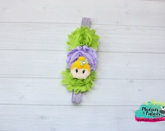 Fairy Princess Planner band { Tink } lime green, lavender summer, neverland, planner accessories bible band, baby headband
