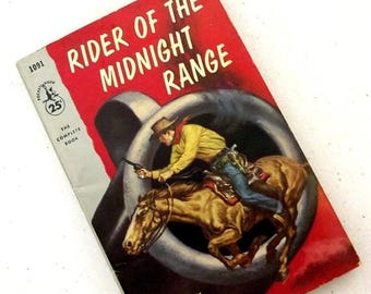 1956  Rider of the Midnight Range by Will Ermine -- Collectible Western Book -- great for Ranch Country Home Decor