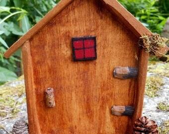 Fairy Garden Door, Natural Materials, Handmade, Miniature Fairy house door