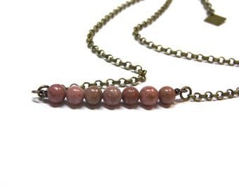 ON SALE Rhodonite Choker Necklace Selfless love Compassion Stone Healing Spiritual Stone Choker Necklace Top Selling Jewelry Layer Necklace
